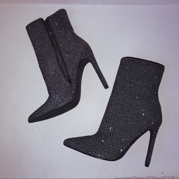 parrilla Elocuente Cabra  Steve Madden Shoes | Steve Madden Wifey Ankle Rhinestone Boots Size 8 |  Poshmark